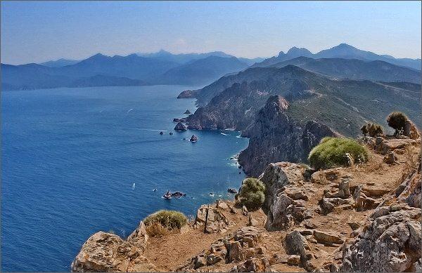 Korsika z Capo Rosso