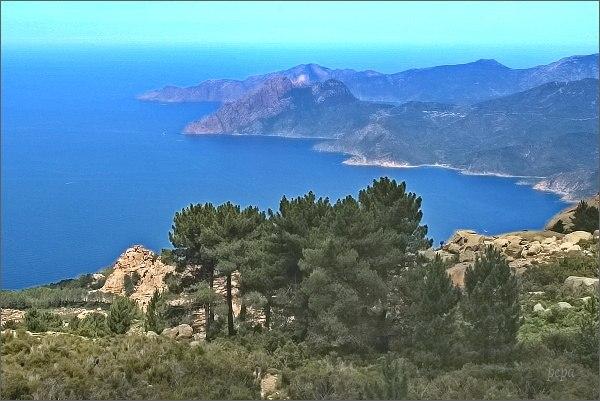 Capu d´Ortu, pohled k moři