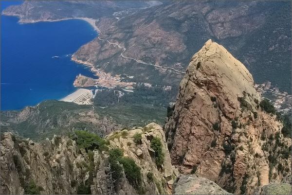 Capu d´Ortu, pohled k Portu