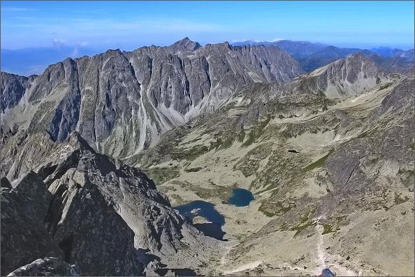 Ťažký štít, pohled do Mengusovskej doliny