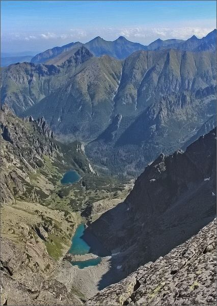 Ťažký štít, pohled do Ťažkej doliny