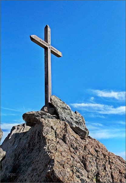 Kříž na Monte Cintu...