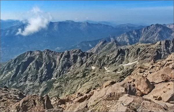Monte Cinto, pohled k jihu