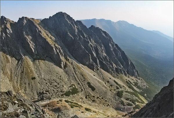 Kozí štít a Žeruchové veže z Karbunkulového hrebeňa