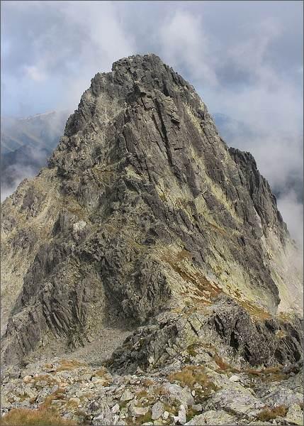 Čierny štít a Čierne veže z hřebene Baraních rohov