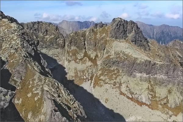 Veľký Žabí štít a Spádová kopa z Ťažkej veže