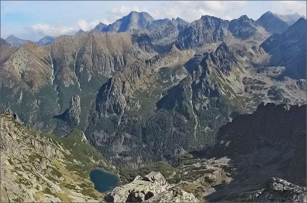 Ťažká a Bielovodská dolina z Ťažkej veže