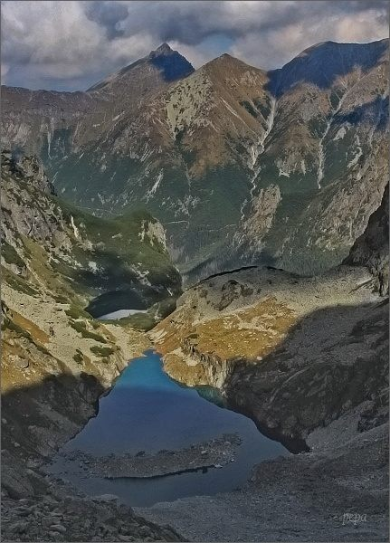 Ťažká dolina z cesty na Váhu