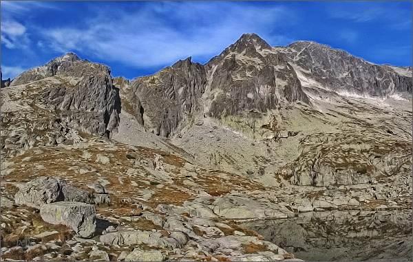 Pfinnova kopa a Ľadové štíty od Spišských plies