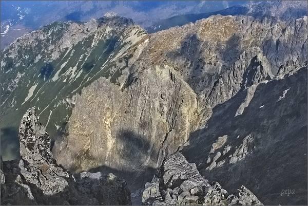 Snehové veže ze Zadného Ľadového štítu