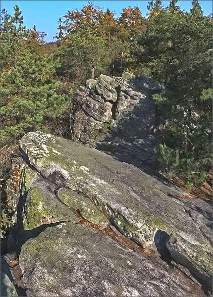 Přírodní rezervace Čtyři palice. Vyhlídka na jednom z vrcholů