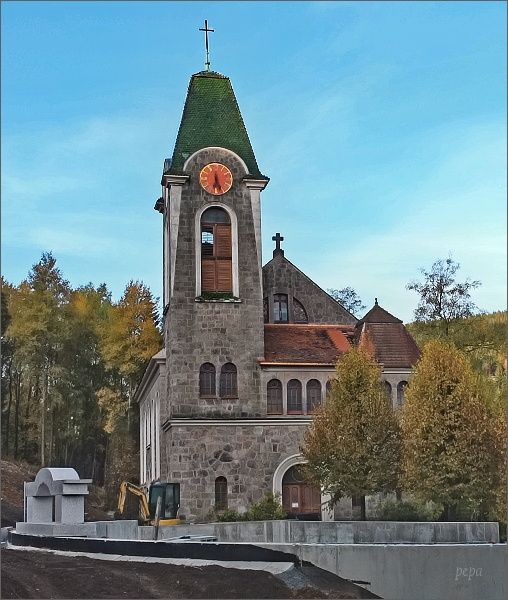 Potůčky. Kostel Navštívení Panny Marie