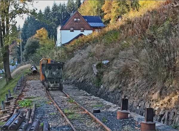 Johanngeorgenstadt, stopy po těžbě rud nacházíme na každém kroku