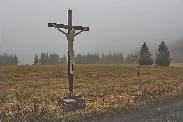 Přebuz, kříž na pastvinách