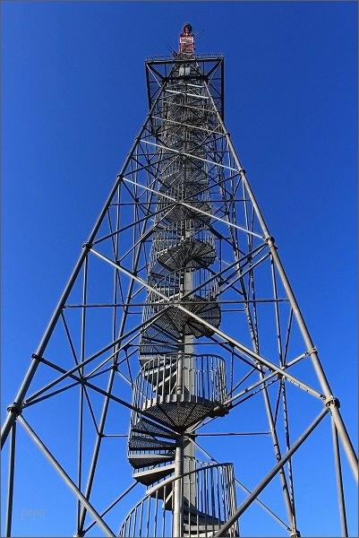 Krudum. Telekomunikační stožár s vyhlídkovou plošinou