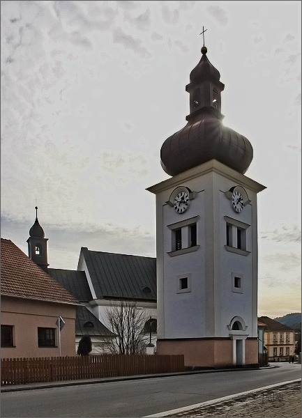 Štěpánov nad Svratkou. Kostel sv. Petra a Pavla