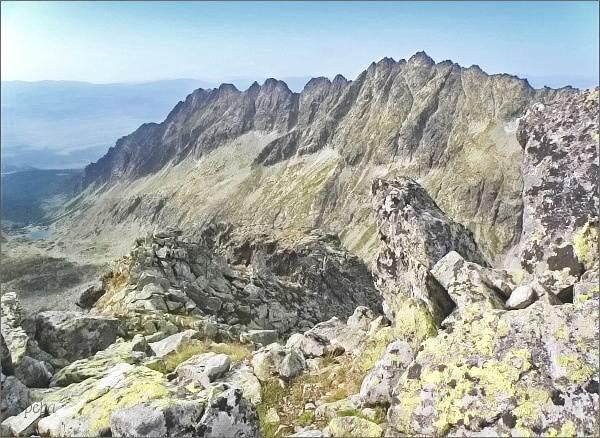 Soliskový hrebeň a Veľké Solisko ze Štrbského štítu