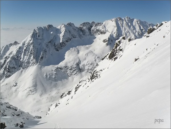 Soliskový hrebeň a Veľké Solisko nad Mlynickou dolinou
