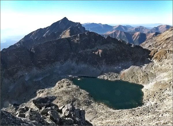 Furkotská dolina, hrebeň Ostrej a Kriváň z Veľkého Soliska