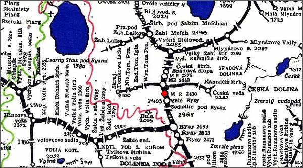 Malé Rysy, mapa