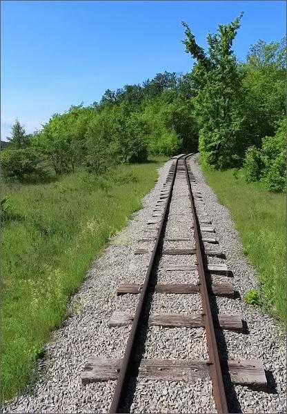 Úzkorozchodná železnice v Solvayových lomech
