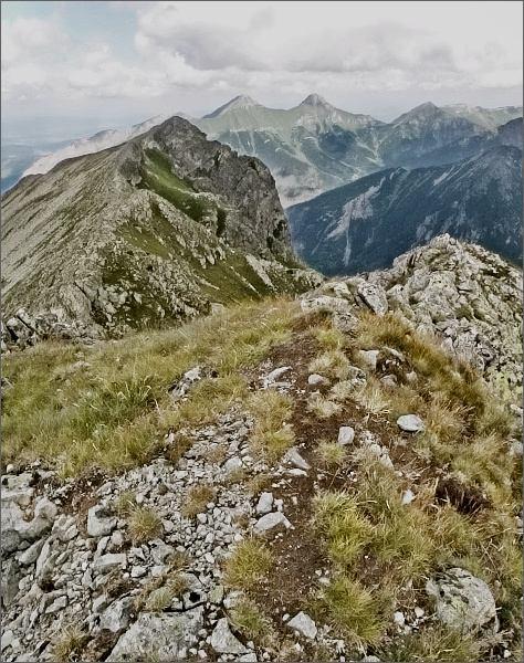 Svišťový Kopiniak ze Širokej. Na horizontu Belianske Tatry