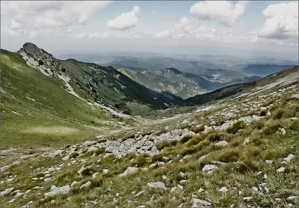 Horvátov vrch a Široká dolina ze Širokej