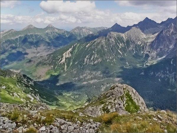 Belianske Tatry, Javorová dolina a Čierna Javorová dolina ze Svišťového Kopiniaku