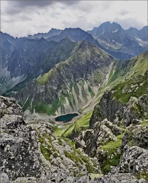 Žabí vrch Javorový a Zelené pleso Javorové ze Svišťového Kopiniaku