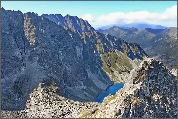 Temnosmrečinská dolina a práh Piargovej doliny z Druhého Mnícha