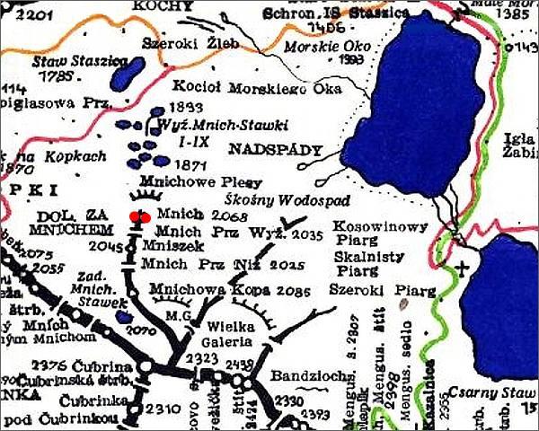 Mnich, mapa