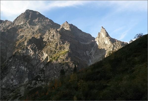 Mnich, Čubrina a Veľký Mengusovský štít