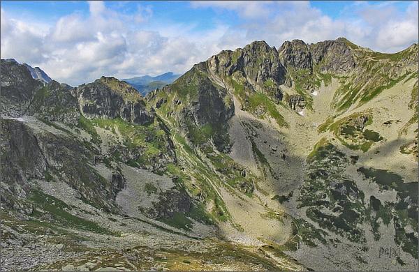 Wrota Chałubińskiego, Szpiglasowy Wierch a sedlo Szpiglasowa Przełęcz z Mnicha