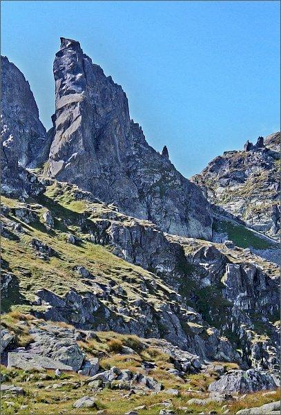 Zadni Mnich / Druhý Mních. Pohled od severovýchodu