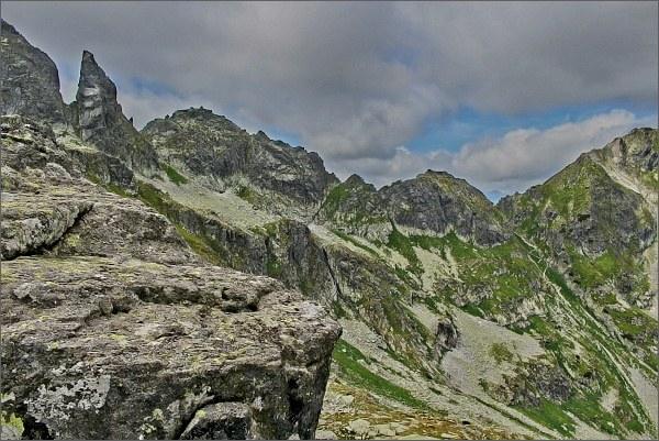 Zadni Mnich / Druhý Mních, Dolina za Mnichem