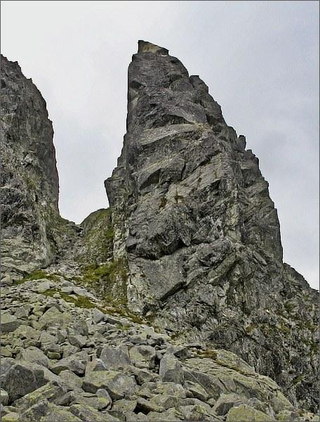 Zadni Mnich / Druhý Mních, severovýchodní hrana