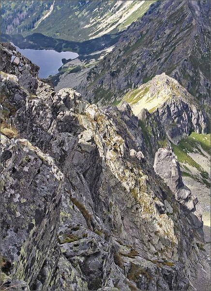 Zadni Mnich / Druhý Mních z Čubriny (Cubryna), vpravo dole