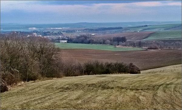 Orlovice. Pohled od kostela sv. Václava do Vyškovské brány