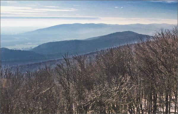 Havrania skala, pohled k jihozápadu