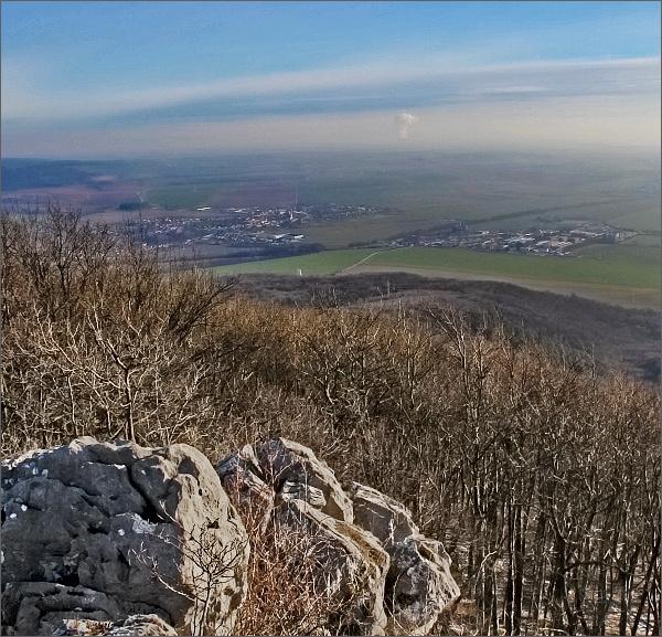 Havrania skala. Pohled k severovýchodu