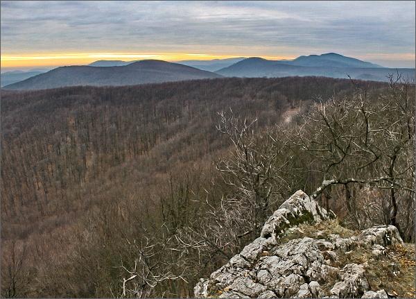 Na Čiernej skale, pohled k jihozápadu