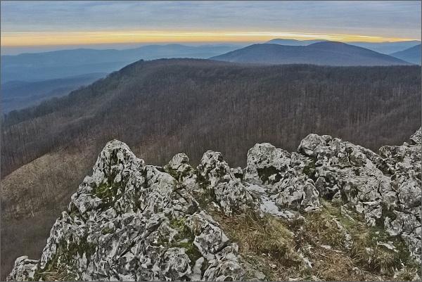 Na Čiernej skale, pohled k jihu