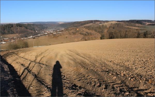 Nad Březovou nad Svitavou (...a můj stín)