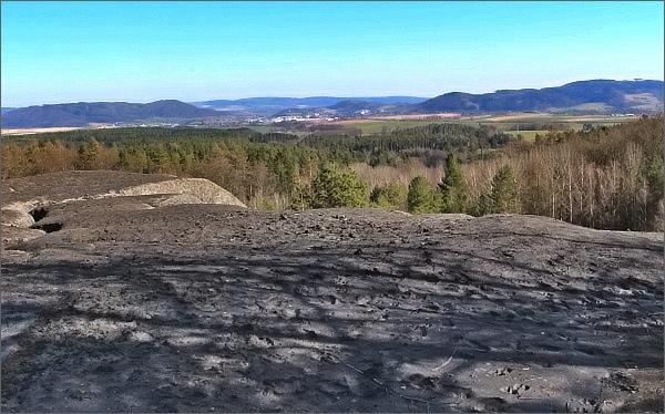 Areál bývalého Dolu Hřebeč. Vytěžená hlušina
