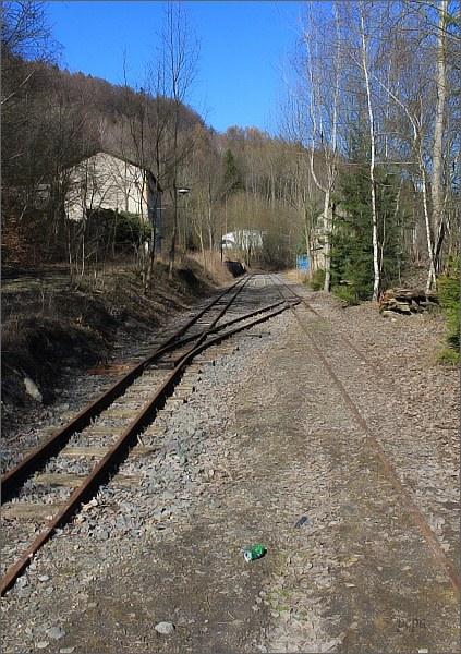 Areál býv. Dolu Hřebeč. Mladějovská úzkorozchodná železnice