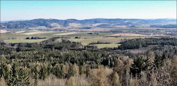 Zábřežská vrchovina z vyhlídky Nad doly