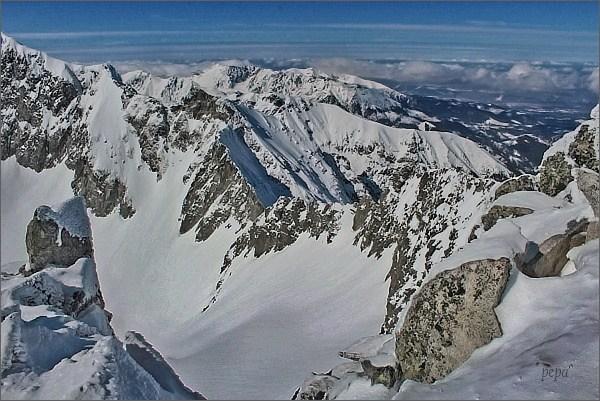 Závěr Malej Studenej doliny z Baraních rohov