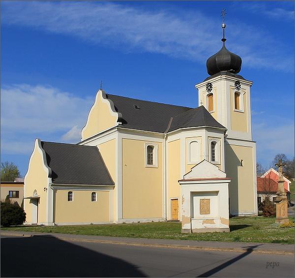 Jaroměřice. Kostel Všech svatých