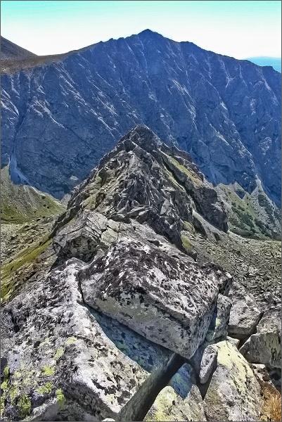 Dračí hrebeň, pohled ke Zlomiskovej veži