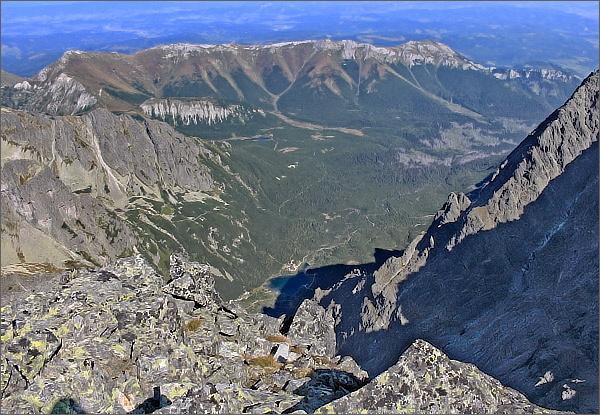 Dolina Bielej Kežmarskej vody a Belianske Tatry z Pyšného štítu